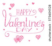 valentines day banner with...   Shutterstock .eps vector #573604528