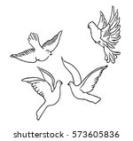 pigeon flying | Shutterstock .eps vector #573605836