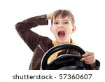 portrait of a boy teenager... | Shutterstock . vector #57360607