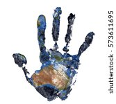 Real Hand Print Combined With ...