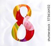 8 march woman's day flourish... | Shutterstock .eps vector #573616432