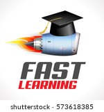 fast learning concept   turbo... | Shutterstock .eps vector #573618385