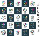 vector logo people | Shutterstock .eps vector #573628516