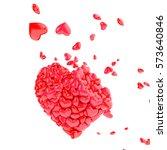 valentines glossy heart 3d...   Shutterstock . vector #573640846