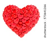valentines made of hearts 3d...   Shutterstock . vector #573641266