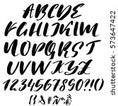 hand drawn font made by dry... | Shutterstock .eps vector #573647422