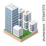 isometric urban city | Shutterstock . vector #573647572