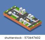 urban transport street | Shutterstock . vector #573647602