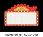 vegas style neon sign with text ... | Shutterstock .eps vector #57364990