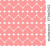 seamless pattern with hearts.... | Shutterstock .eps vector #573662422