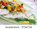 boiled fish and vegetables | Shutterstock . vector #5736718