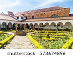 courtyard of a convent santo... | Shutterstock . vector #573674896