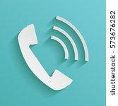 telephone handset  telephone... | Shutterstock .eps vector #573676282
