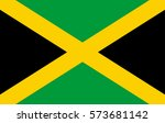 jamaica flag  | Shutterstock . vector #573681142