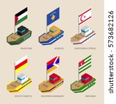 set of isometric 3d ships with... | Shutterstock .eps vector #573682126