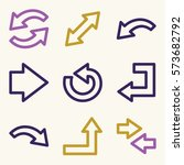 arrows mobile icon  next step...   Shutterstock .eps vector #573682792