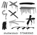 spray paint symbol | Shutterstock . vector #573683065