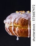 fresh polish donut with icing... | Shutterstock . vector #573687472