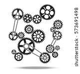 gears  cogs and wheels vector... | Shutterstock .eps vector #573691498