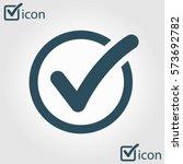 check list button icon. check... | Shutterstock .eps vector #573692782