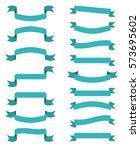 blue scroll banners. vector... | Shutterstock .eps vector #573695602