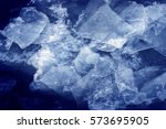 blue ice. color photo. | Shutterstock . vector #573695905