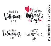 valentine's day lettering | Shutterstock .eps vector #573710992
