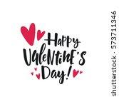 valentine's day lettering   Shutterstock .eps vector #573711346