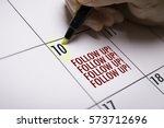 follow up | Shutterstock . vector #573712696