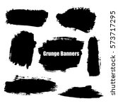 vector template set of grunge... | Shutterstock .eps vector #573717295