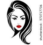 illustration of women long hair ...   Shutterstock .eps vector #573717736
