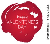 grunge frame with hearts... | Shutterstock .eps vector #573724666