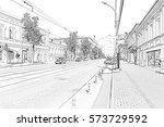 perm  russia   august 02  2016  ... | Shutterstock . vector #573729592