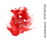 I Love You Text Design On Red...