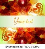 floral background   Shutterstock .eps vector #57374293