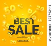 best sale banner. original... | Shutterstock .eps vector #573743446