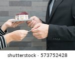 banks approve loans to buy... | Shutterstock . vector #573752428