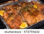 crispy duck roast in an...