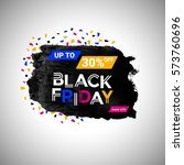 black friday sale banner over... | Shutterstock .eps vector #573760696