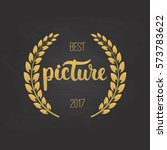 awards of best picture with... | Shutterstock .eps vector #573783622