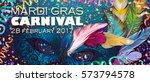 realistic carnival mask ... | Shutterstock .eps vector #573794578