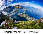 lofoten is an archipelago in... | Shutterstock . vector #573796462