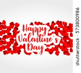 red hearts background for... | Shutterstock .eps vector #573800986