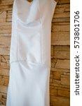 custom made wedding dress... | Shutterstock . vector #573801706