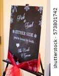 custom wedding seating sign... | Shutterstock . vector #573801742