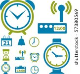 time   clock signs. vector   Shutterstock .eps vector #57380569