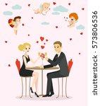 valentines day illustration... | Shutterstock .eps vector #573806536