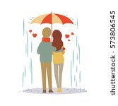 Lovers Couple Cartoon In The...