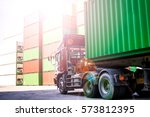 the transport industry about... | Shutterstock . vector #573812395