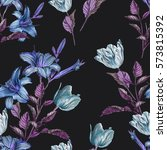 floral seamless pattern with... | Shutterstock . vector #573815392